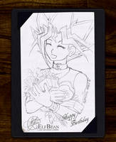 Sketchbook pg.27 - Birthday Smile by ElfBean