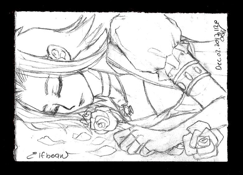 Sketchbook #63 - Bed of Roses by ElfBean