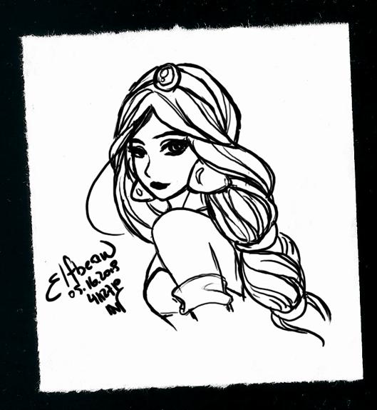 Sketchbook #74 - Jasmine by ElfBean