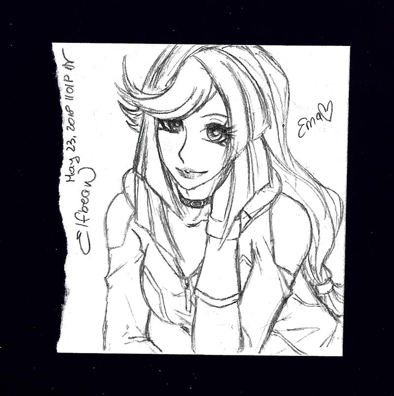 Sketchbook #76 - Biker Girl by ElfBean