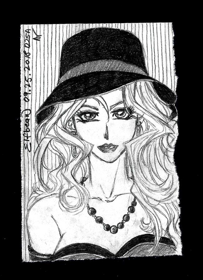 Sketchbook #85 - Black Pearl by ElfBean