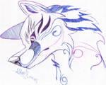 Stylised Wolf Head 1