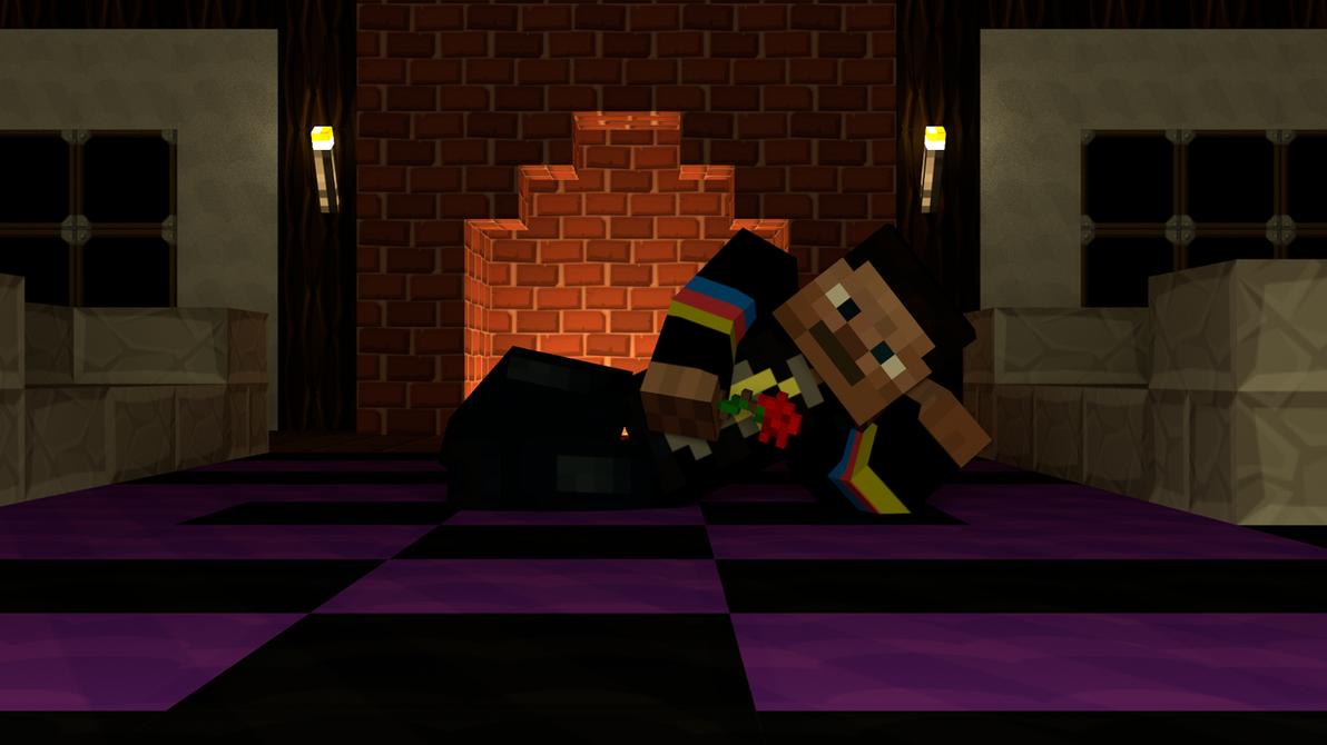 Minecraft Romantic Scene by Dekanuva