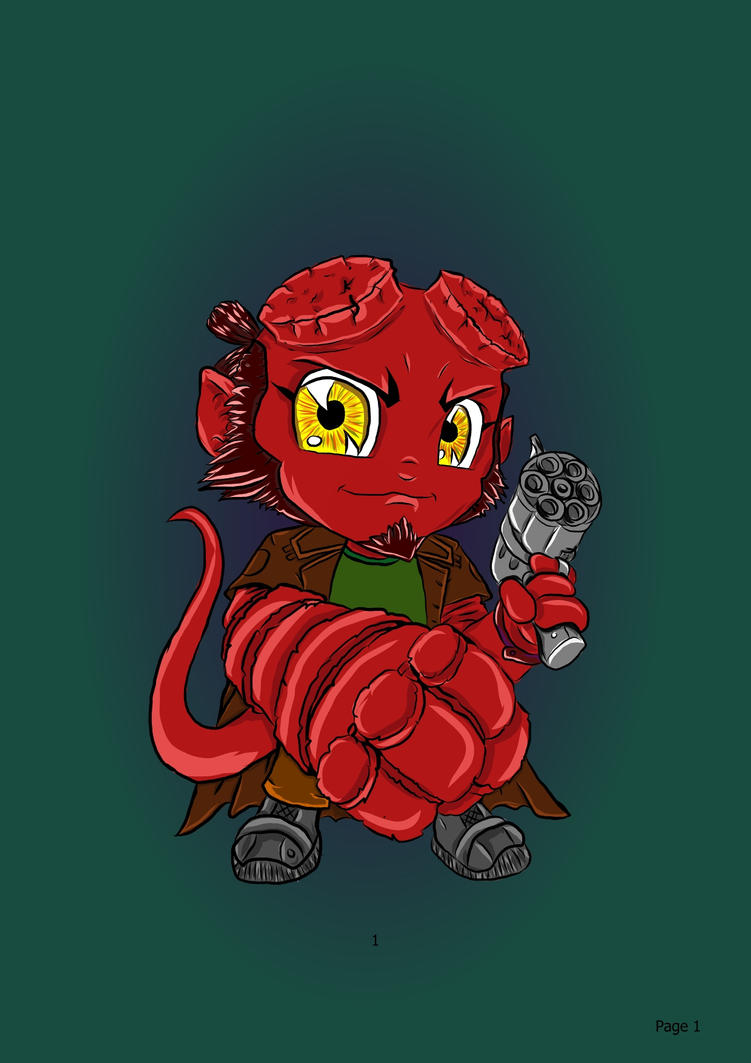 Hellboy by TikaFauxx