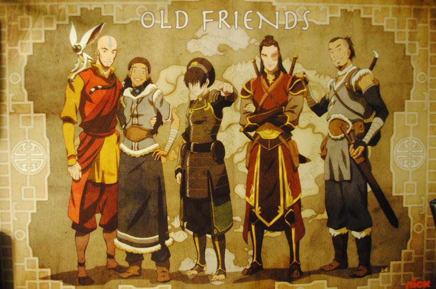 avatar old friends poster by inujosha on deviantart