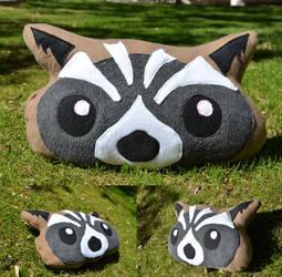 Rocket Raccoon Pillow by Inu-Josha