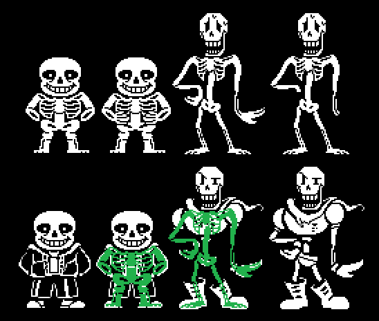 Clothless Sans And Papyrus Sprites Bases By Maharl On Deviantart