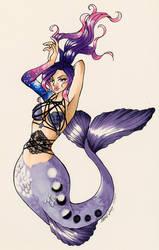Mermaid Priss - C by HeartOfAmethyst
