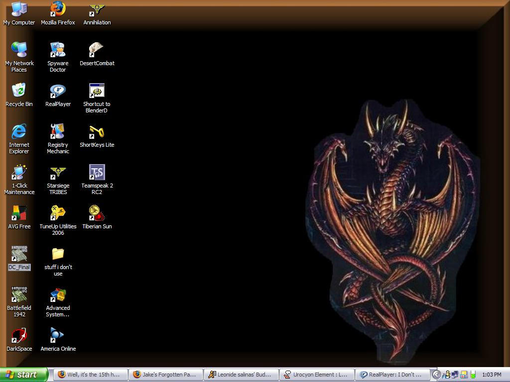 my newest desktop by griffindragon