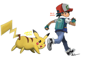 Ash And Pikachu (I Choose You!) by Rex-Shadao