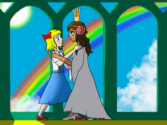 Dorothy and Ozma Dance by Rex-Shadao