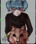Sally face. Wif goat head