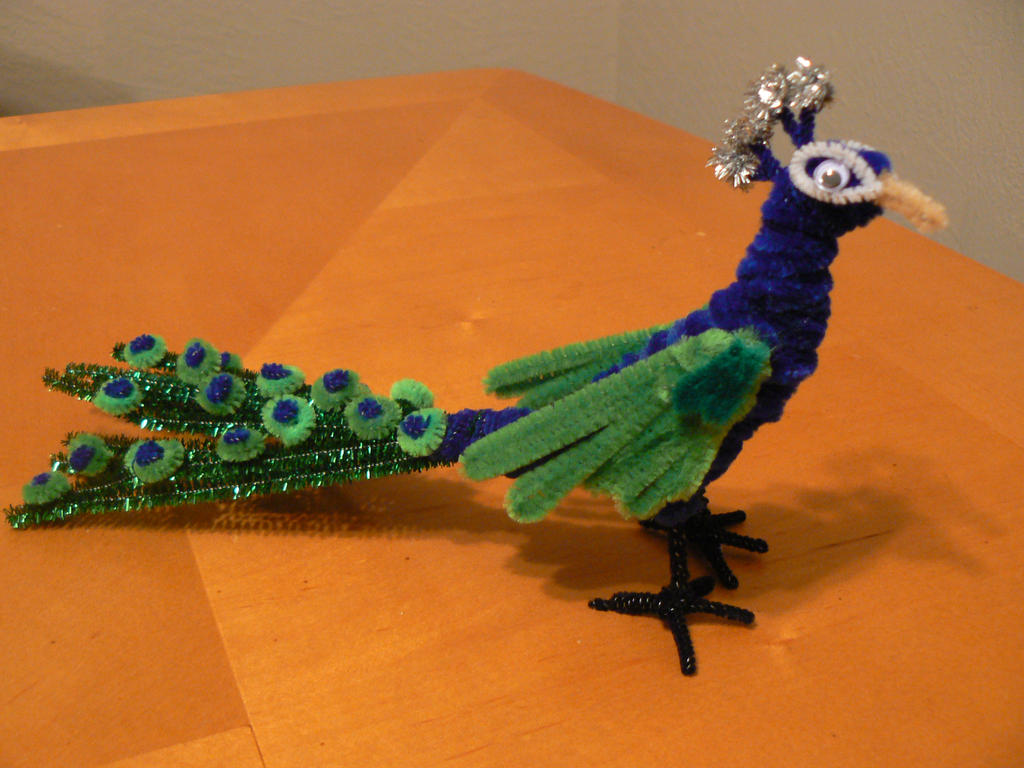 pom pom peacock craft peacock by steff57 on deviantart 5233