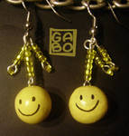 Smiley earings by gabo-the-baka