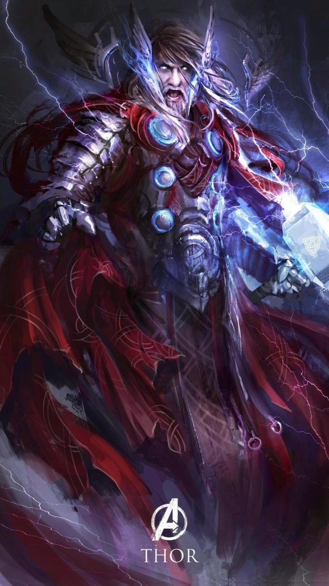 God Of Thunder : Thor art.. by CoLoRz07