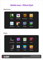 Mobile icons - iPhone style by iCanUI