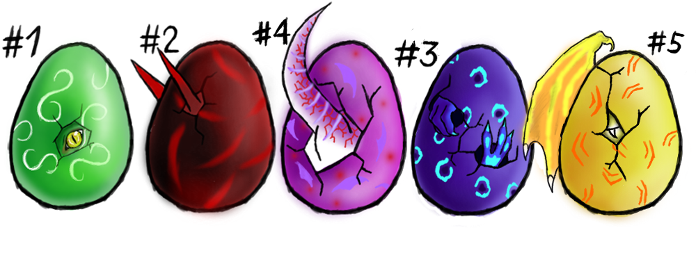 Dragon Eggs .:adoptable:. closed by Kaly4