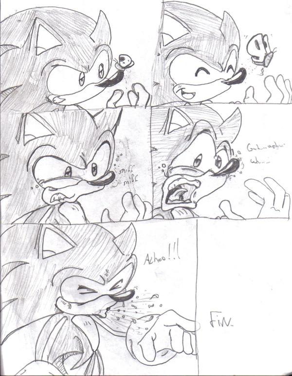sonic sneeze comic by Callihanclan on DeviantArt