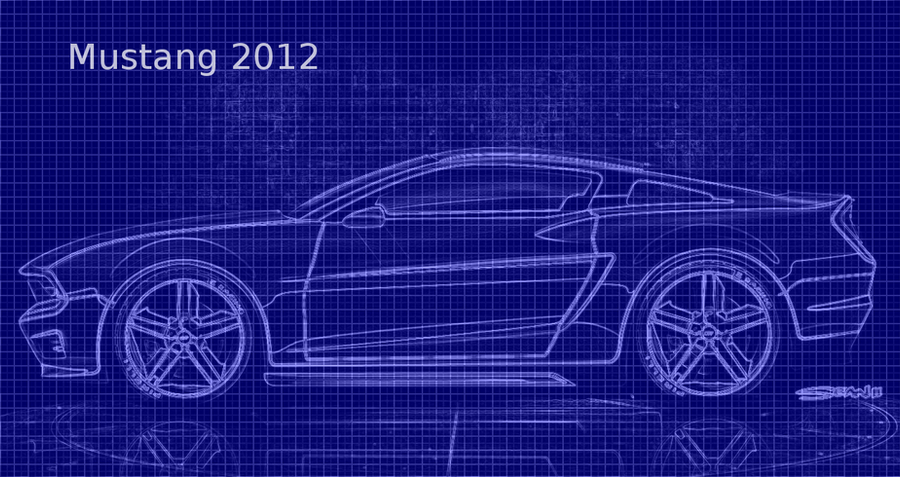 Mustang Blueprint Made From Gimp2.6 By Allygrl15 ...