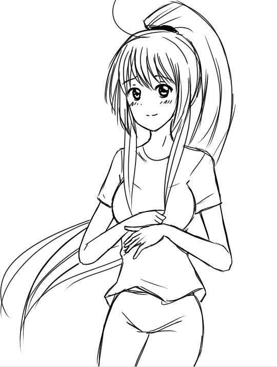 The Gallery For --u0026gt; How To Draw Anime Ponytail