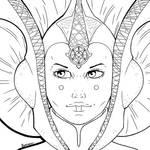 Lineart: Queen Amidala (Portrait)