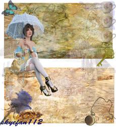 Blue Teacup Collage 1