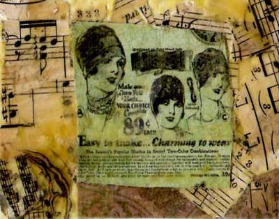 ATC:music newsprint lady by AeliaNaqwiDesigns