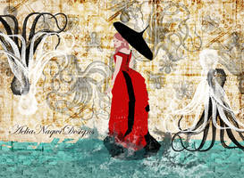 Parasols and Octopus by AeliaNaqwiDesigns