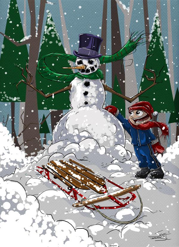Winter fun by bluespottedfrog