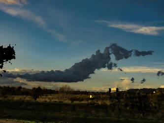 SeaHorse Cloud- Paint Effect by Fiction-Art-Author