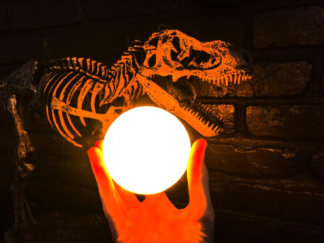 Sun T-rex Extinction by Fiction-Art-Author