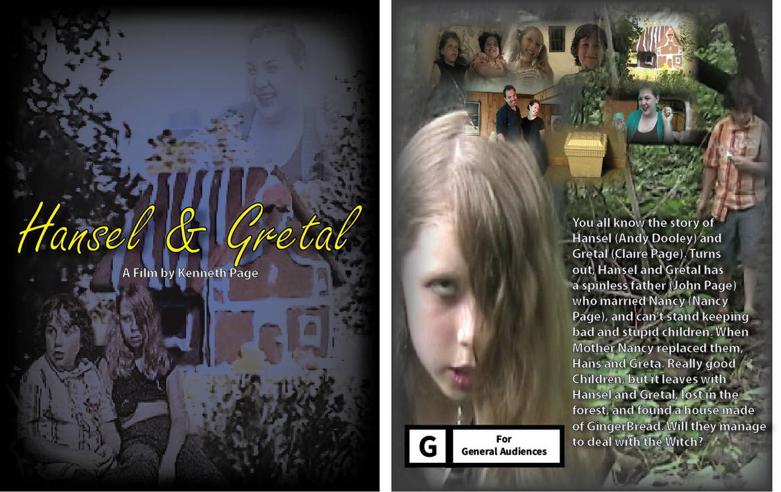 Lake Film Posters- Hansel and Gretal Front and Bac by Fiction-Art-Author