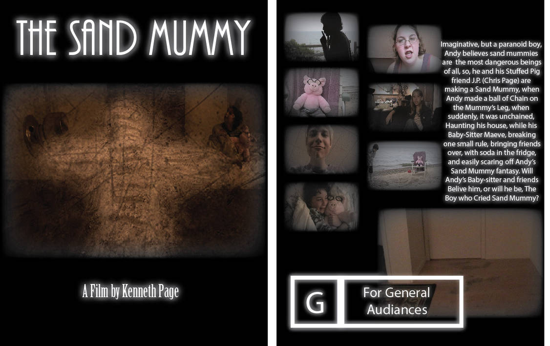 Lake Film Posters 1- The Sand Mummy Front and Back by Fiction-Art-Author