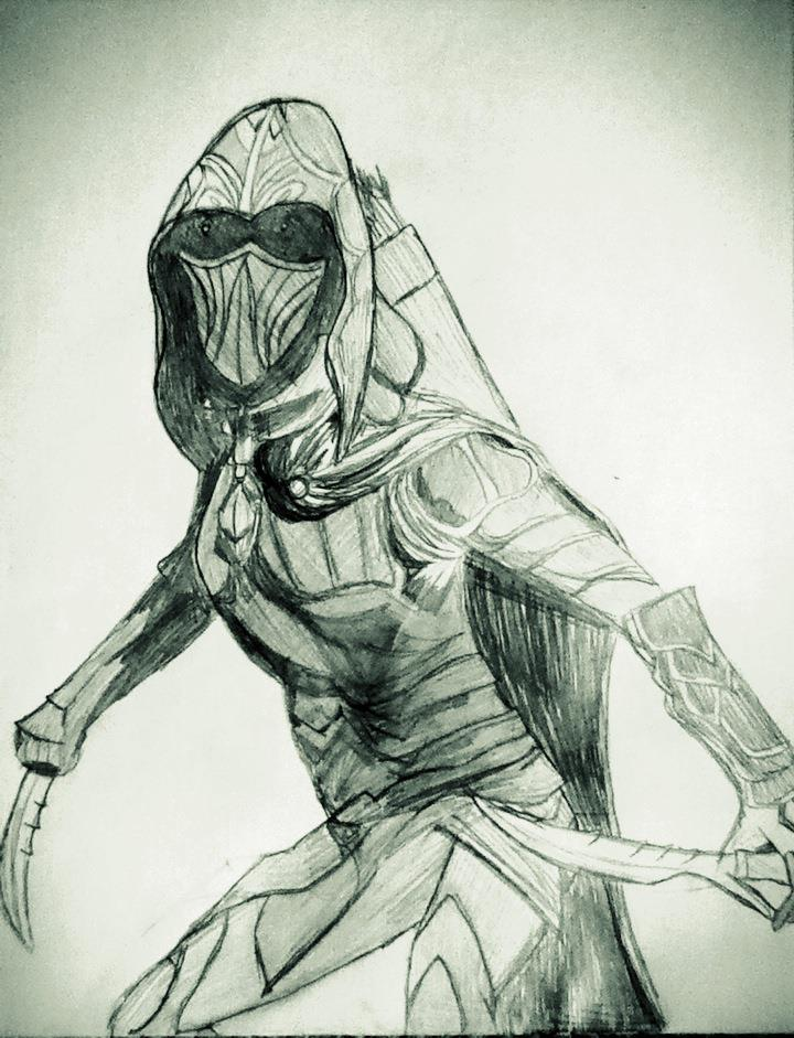above is skyrim drawing - photo #49