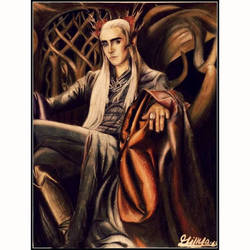 Thranduil in his throne- The hobbit by gilly15