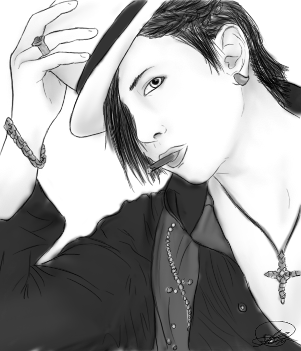 Akeno's creation, Clothes and drawings (new p2) Gackt_sketch_by_ore_samaakeno-d2yboq5