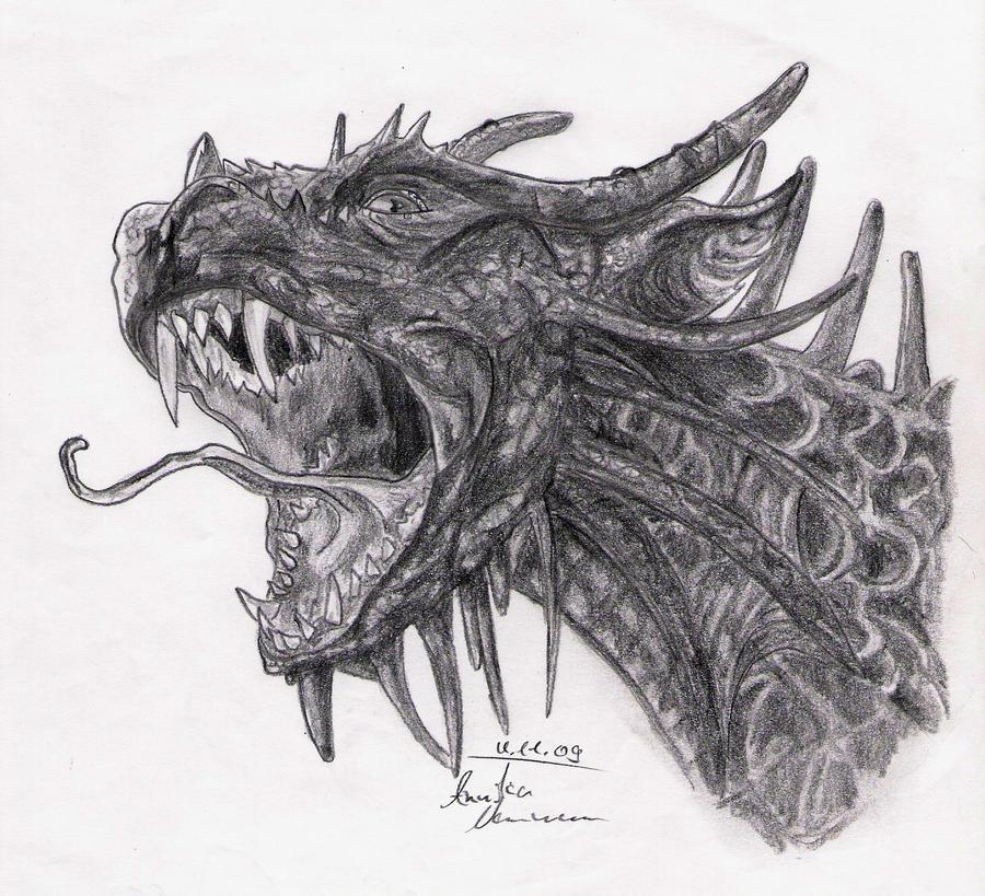 Evil Dragon Drawings