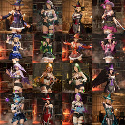 Dead or Alive 6 Witches Set (Women) by NeroBlueRoseSparda