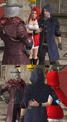 what if Vergil wasn't in a partying mood xD by NeroBlueRoseSparda
