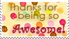 Stamp: You are awesome by OtterAndTerrier