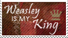 Stamp: Weasley is my King by OtterAndTerrier
