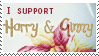 Stamp: Harry and Ginny by OtterAndTerrier