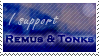Stamp: Remus and Tonks by OtterAndTerrier