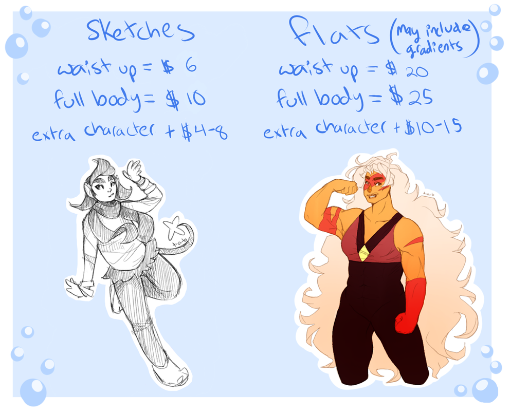 Commission Prices 1 by Thoughts-and-Bubbles