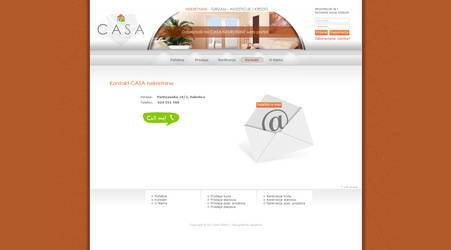 CASA nekretnine web site design by vekanoid
