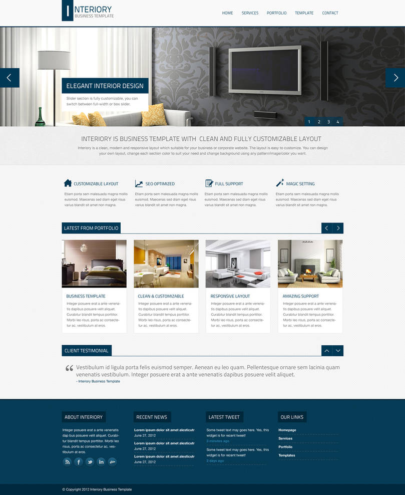 Interiory - Business And Corporate Theme