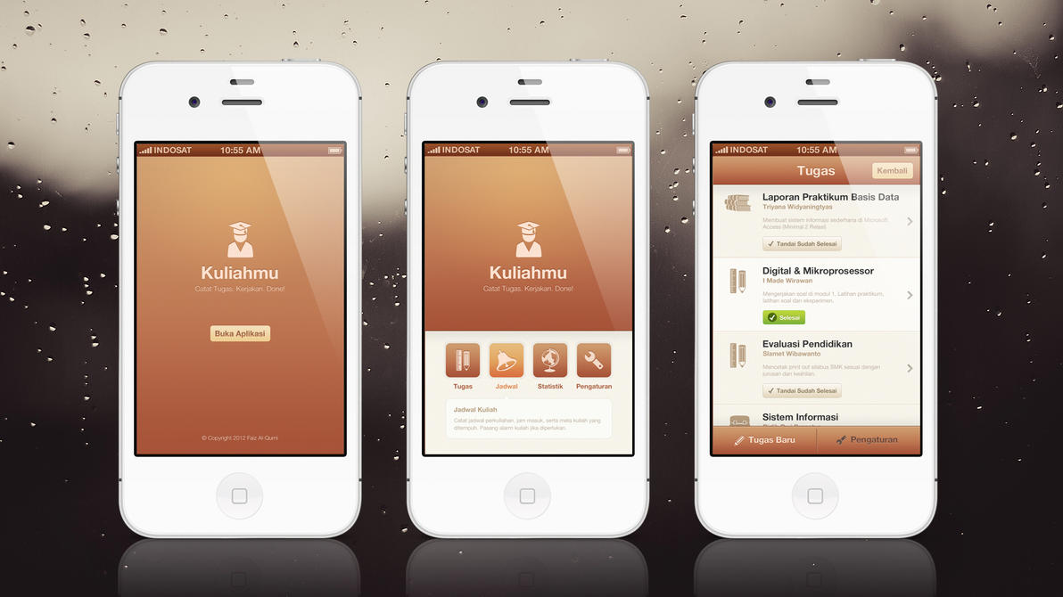 Kuliahmu app mobile ui ux design by faizalqurni on for Designing an iphone app