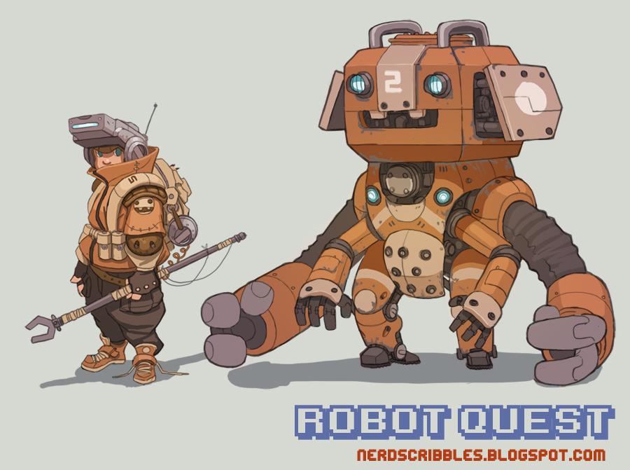 Robot Quest Concept by Nerd-Scribbles