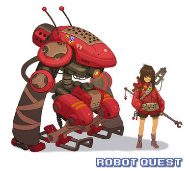 RobotQuest Girl Red by Nerd-Scribbles