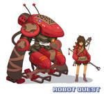 RobotQuest Girl Red